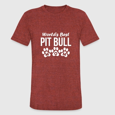 Pitty World's Best Pit Bull Mom - Unisex Tri-Blend T-Shirt