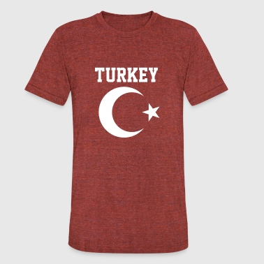 Turkish Star Turkish Turkey Flag Crescent Moon and Star - Unisex Tri-Blend T-Shirt