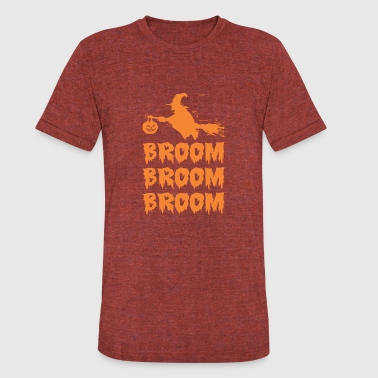 Halloween Broom Broom Broom - Unisex Tri-Blend T-Shirt