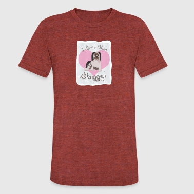I Love Shaggy Dogs - Unisex Tri-Blend T-Shirt