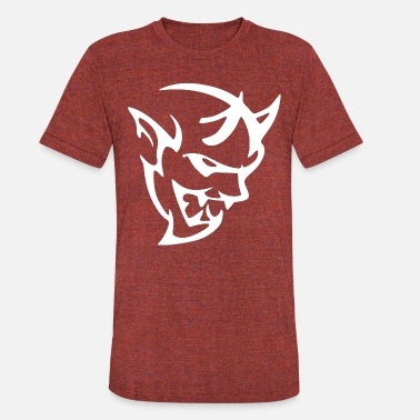 Demon DODGE DEMON HEAD - Unisex Tri-Blend T-Shirt