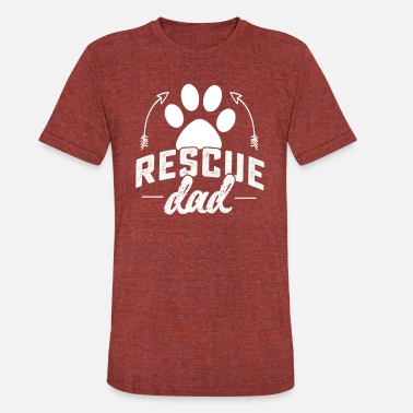 Rescue Daddy Rescue Dad tshirt - Unisex Tri-Blend T-Shirt