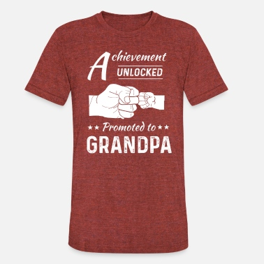 Granddaddy Promoted To Grandpa Achievement Unlocked Mens T-Sh - Unisex Tri-Blend T-Shirt