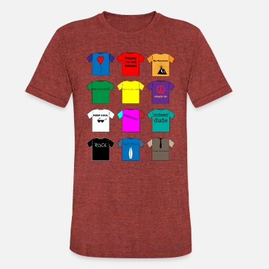 Variety T Shirts colorful variety - Unisex Tri-Blend T-Shirt