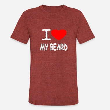Love My Beard I LOVE MY BEARD - Unisex Tri-Blend T-Shirt