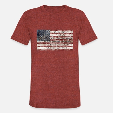 Pledge pledge of allegiance - Unisex Tri-Blend T-Shirt