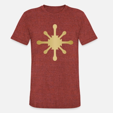 Heraldic Symbol Gold heraldic star symbol cool art illustration - Unisex Tri-Blend T-Shirt
