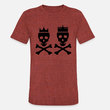 Black Queen King King and Queen - Unisex Tri-Blend T-Shirt