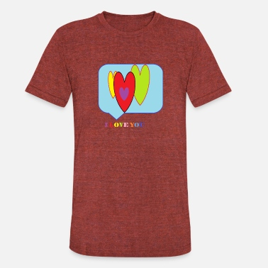 I Hear You I LOVE YOU-Hears - Unisex Tri-Blend T-Shirt
