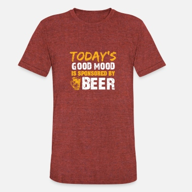 Mod My good mod is sponsored by beer - Unisex Tri-Blend T-Shirt