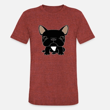 Frenchie Mom Frenchie - Unisex Tri-Blend T-Shirt