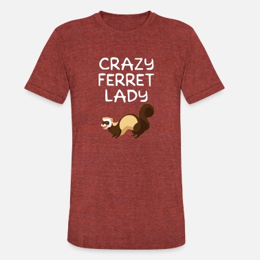 Ferrets Crazy Ferret Lady Funny Ferret Owner - Unisex Tri-Blend T-Shirt