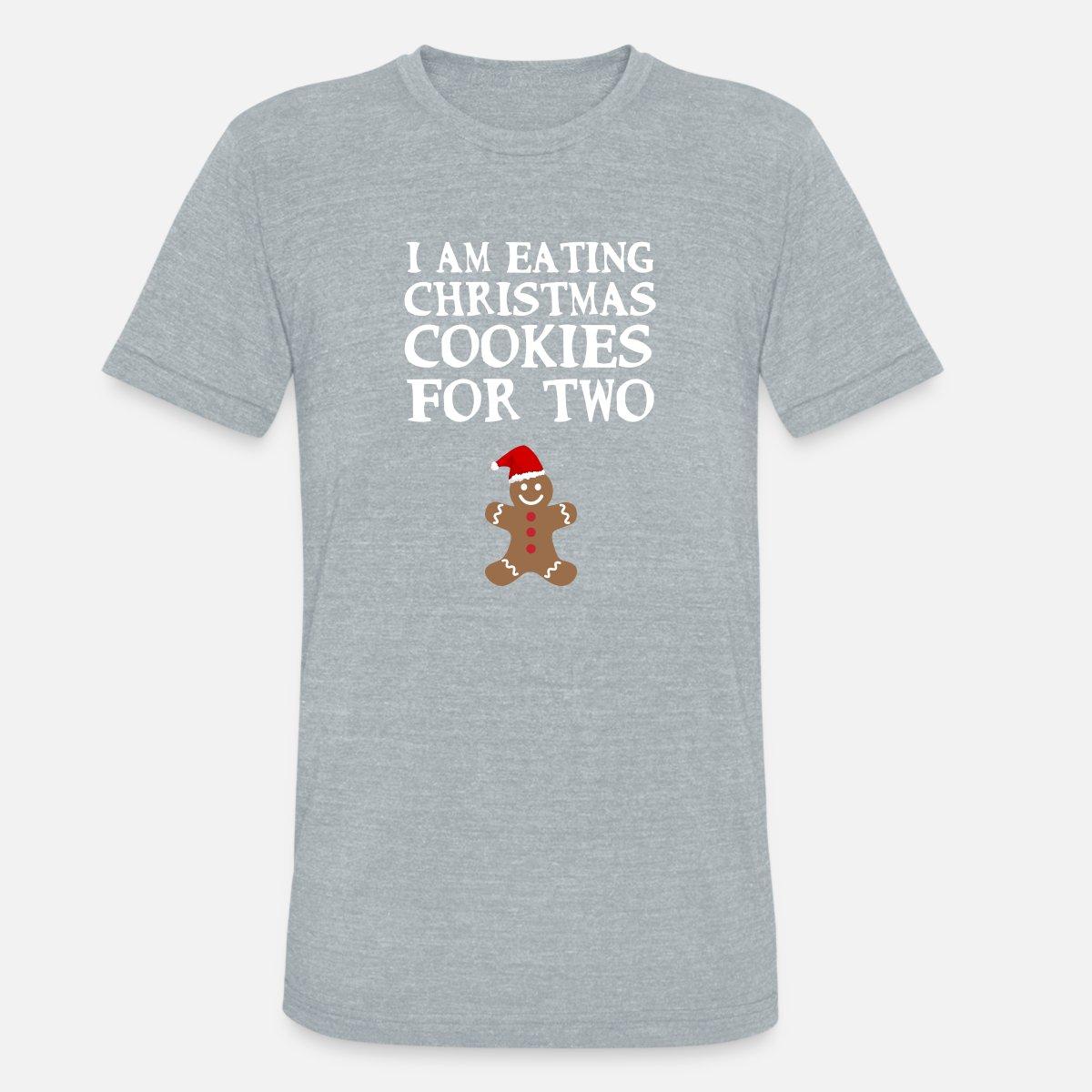 a68403b7690ff Funny Christmas Pregnancy Announcement Gingerbread Unisex Tri-Blend T-Shirt  | Spreadshirt