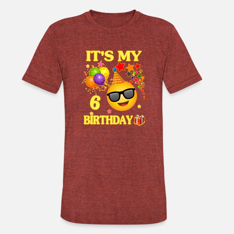 Its My 6 Birthday Shirt Years Old 6th Gift Unisex Tri