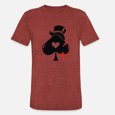 Spade Poker hat ace of spades - Unisex Tri-Blend T-Shirt