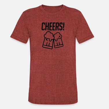 Cheer Quotes Cheers - Unisex Tri-Blend T-Shirt