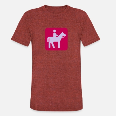 Horse Rider Sign Horse with rider - Unisex Tri-Blend T-Shirt