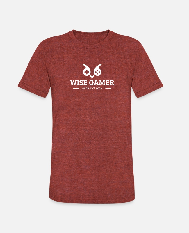 Nature T-Shirts - New Design Wise gamer genius at play Best Seller - Unisex Tri-Blend T-Shirt heather cranberry