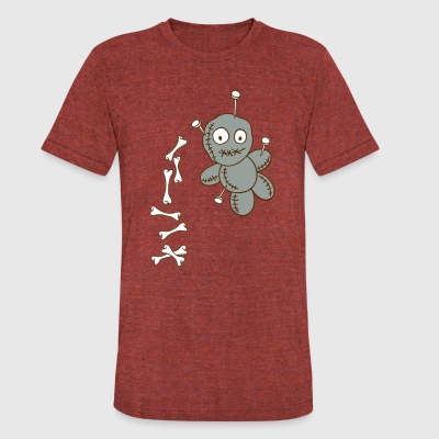 Voodoo doll with bones - Unisex Tri-Blend T-Shirt by American Apparel