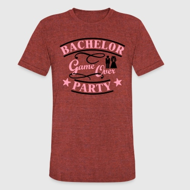 bachelor party game over - Unisex Tri-Blend T-Shirt
