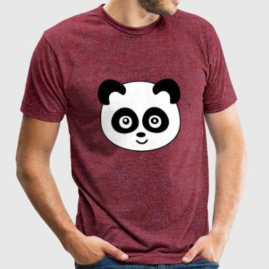 Panda - Unisex Tri-Blend T-Shirt by American Apparel