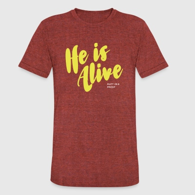 Jesus Lives - Unisex Tri-Blend T-Shirt by American Apparel