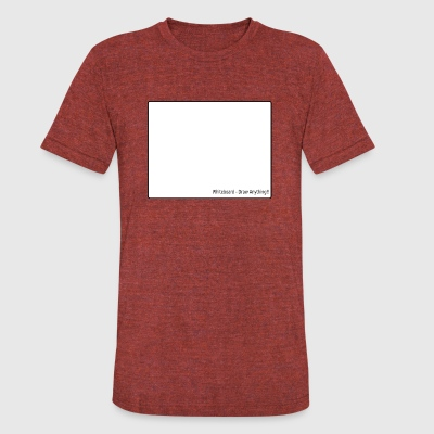 whiteboard - Unisex Tri-Blend T-Shirt by American Apparel