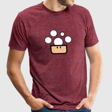 features Mario Bros 1up mushroom - Unisex Tri-Blend T-Shirt by American Apparel