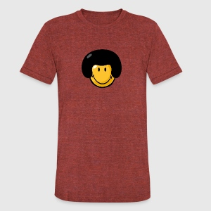 SmileyWorld Afro Smiley - Unisex Tri-Blend T-Shirt by American Apparel