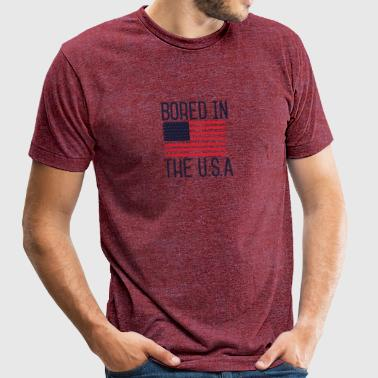 American - Bored In The USA - Unisex Tri-Blend T-Shirt by American Apparel