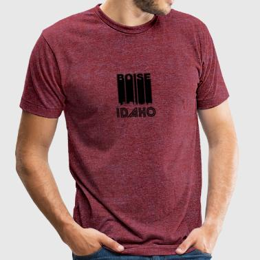 Retro Boise Idaho Skyline - Unisex Tri-Blend T-Shirt by American Apparel