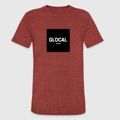 GLOCAL - Unisex Tri-Blend T-Shirt by American Apparel