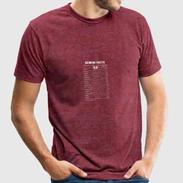 Gemini Facts 1 Awesome Zodiac Sign - Unisex Tri-Blend T-Shirt