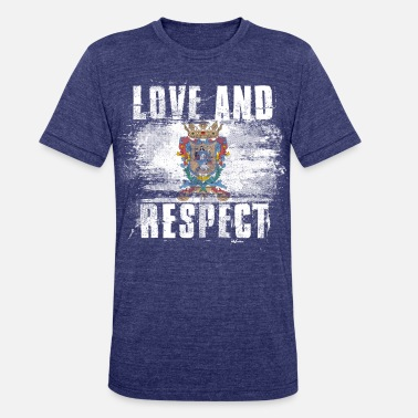 Mexico Flag Graffiti Love and Respect Guanajuato Flag Mexican Pride T Shirt - Unisex Tri-Blend T-Shirt