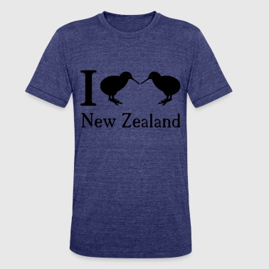 Love New Zealand I love New Zealand - Unisex Tri-Blend T-Shirt