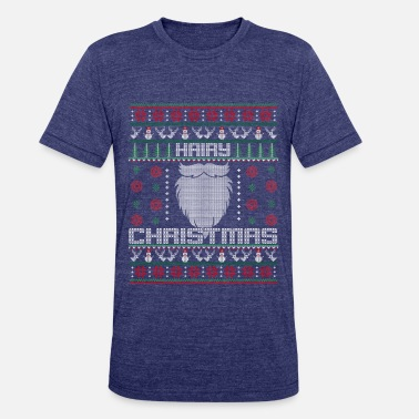 Hairy Christmas Hairy Christmas - Unisex Tri-Blend T-Shirt