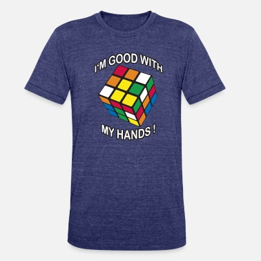 60a6818a7 Rubiks Cube Rubik's Cube Good With My Hands - Unisex Tri-