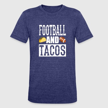 Taco Football Football and Tacos Funny Taco T-Shirt - Unisex Tri-Blend T-Shirt