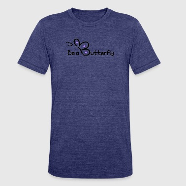 Butterfly Logo Be a Butterfly logo in purple - Unisex Tri-Blend T-Shirt