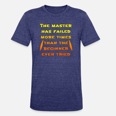 Orange People master orange - Unisex Tri-Blend T-Shirt