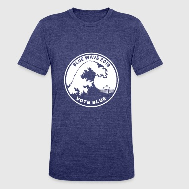 Blue Wave 2018 Vote Blue - Unisex Tri-Blend T-Shirt