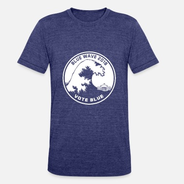 Blue Wave Blue Wave 2018 Vote Blue - Unisex Tri-Blend T-Shirt