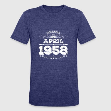 1958 April Established in April 1958 - Unisex Tri-Blend T-Shirt