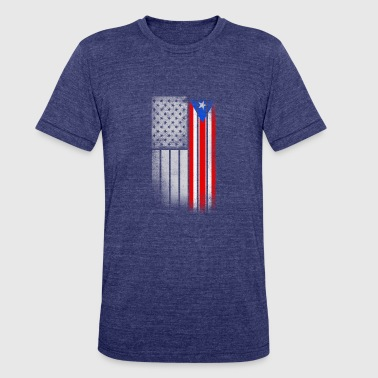 USA Vintage Puerto Rico State Flag - Unisex Tri-Blend T-Shirt