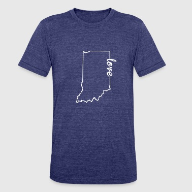 Love Indiana Indiana Love State Outline - Unisex Tri-Blend T-Shirt