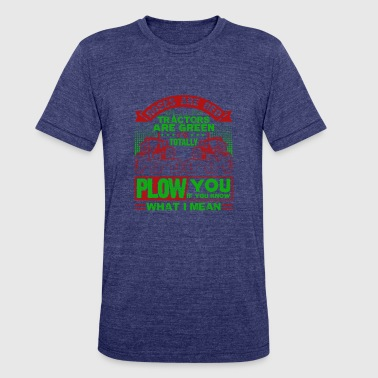 Red Farmer Farmer Roes Are Red Tractor Are Green Shirt - Unisex Tri-Blend T-Shirt