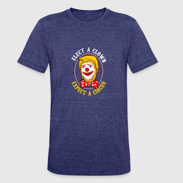 Political Anti Trump clown - Unisex Tri-Blend T-Shirt