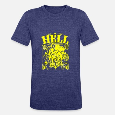 Back Hell GIFT - HELL AND BACK YELLOW - Unisex Tri-Blend T-Shirt