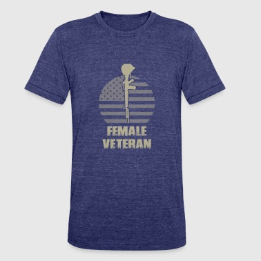Female Navy Veteran Female Veteran - Unisex Tri-Blend T-Shirt