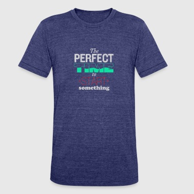 Perfect Timing The perfect time to star something - Unisex Tri-Blend T-Shirt